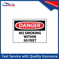 Buy cheap Custom Print Warning Rigid Plastic Signs , 4mm Plastic Warning Sign from wholesalers