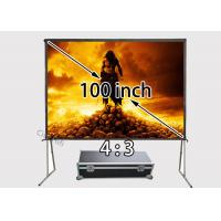 Buy cheap White Quick Assembly Collapsible Movie Screen For 4K 3D Projector Stages from wholesalers