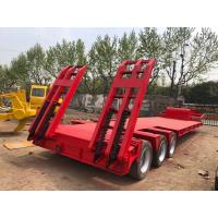 Buy cheap Gooseneck Lowboy Low Bed Truck Trailer Used Flatbed Trailer 3 Axle 40T 50T from wholesalers