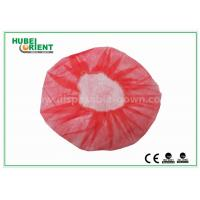 Buy cheap Eco - Friendly Dental Disposable Hair Caps , Red Operating Room Caps With Polypropylene Materials from wholesalers