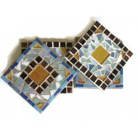 Buy cheap white decorative iridescent swimming pool border tile product