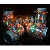 Buy cheap Plastic Landscape Solar Lights Beautiful Design Glass Jar Lights For Garden from wholesalers