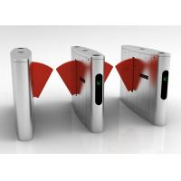 Buy cheap Access Control Entrance Flap Barrier Turnstile Fire Alarm Function Long Service Life from wholesalers