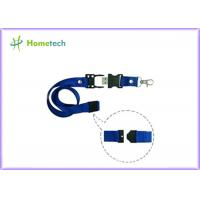 Buy cheap 8gb / 16gb Blue Lanyard USB Flash Drives High Capacity for the teaching staff or student  of a school product