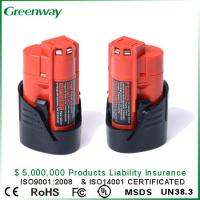 Buy cheap High quality cordless power tool battery replacement for Milwaukee M12 48-11-2401 C12B power tools from wholesalers