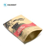 Buy cheap Pp Laminated Printed Kraft Paper Zipper Bags Coffee Bean Packing With Window from wholesalers
