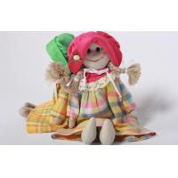 Buy cheap Eco-friendly 100% linen fabric girl doll Hand-stitched toy gift for home decoration from wholesalers