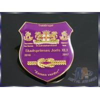 Customizable Business Lapel Pin Badges With Coverd Epoxy Shiny Silver Plating