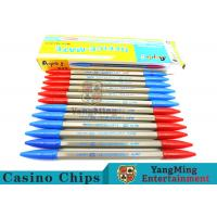 Buy cheap Baccarat Casino Gambling Games Dedicated 2 Functions Blue / Red Ball Pen from wholesalers