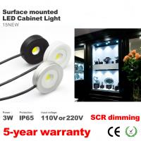 Buy cheap Surface install Led Cabinet Spotlight super thin round waterproof 3W Showcase lighting from wholesalers