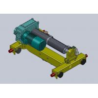 Buy cheap 16 Ton Dual Rail Wire Rope Hoist Trolley , Steel Industry from wholesalers