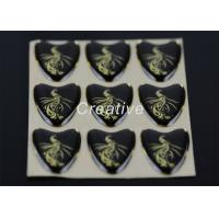 Buy cheap Bright Golden Printable Heart Shaped Labels Epoxy Resin Stickers For Promotional Gift product
