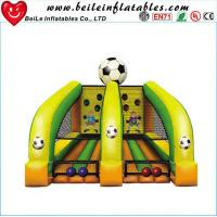 Buy cheap kids Football throwing games air soccer goal inflatable football goal from wholesalers