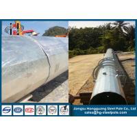 Overlap Conncetion Conical Polygonal Telecomminication Monopole Steel Tubular Pole