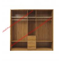Buy cheap five DOORS wardrobe chest with open doors in soft stainless hinge and rubber wood racks with cloth shelves from wholesalers