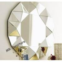 Buy cheap Ornate Design Mirror Furniture Set Round 3D Angled Wall Lamp Mirror from wholesalers