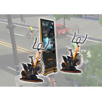 9 D VR Exercise Amusement Virtual Reality Bicycle Logo Customized For Arcade / Malls