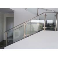 Buy cheap Top Mount Stainless And Glass Balustrade , Staircase Steel Railing Designs With Glass from wholesalers