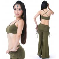 Buy cheap Tribal viscose belly dance practice costume / belly dance workout clothes Olive green color from wholesalers