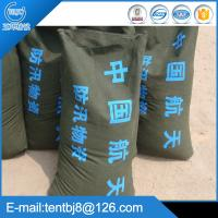 Buy cheap Green 30*70 cm prevent water canvas sand bag for flood from wholesalers