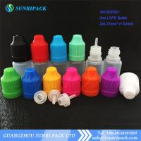 Buy cheap 3ml LDPE e-liquid bottle, plastic bottle with child proof and tamper evident cap from wholesalers