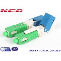 Buy cheap Green 2.0mm 3.0mm FTTX  SC /APC field installable fiber optic connector from wholesalers
