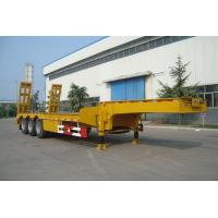 Buy cheap CIMC 60ton Gooseneck 3 Axle Low Bed Heavy Duty Semi Trailer for sale from wholesalers