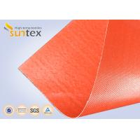 Buy cheap Silicone Coated Bulk Fiberglass Cloth Roll Resistant High Temperature Up To 1000 C Degree product