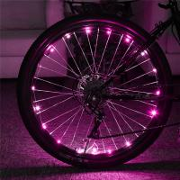 Buy cheap 2m Multi-Color 3*AA Battery Operated LED Bicycle Wheel String Lights For Bike Decoraction from wholesalers