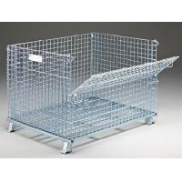 Buy cheap Collapsible Folding Durable 2 X 2 Collapsible Wire Mesh Container With Lid from wholesalers