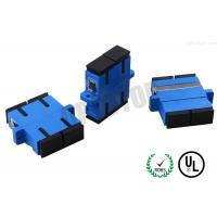 Buy cheap Connector SC Optical Fiber Adapter Simplex With Shutter Blue Color product
