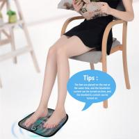 Buy cheap Meraif Remote Control EMS Foot Massage Mat Pad, USB Rechargeable Electric Foot Sole Massager with EMS Technology for Wom from wholesalers