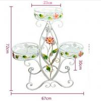 Buy cheap Decorative Three Tier Plant Stand Outdoor , Heavy Duty Wire Plant Stand Garden Furniture Ornaments from wholesalers