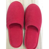 Buy cheap Red color Disposable terry cloth hotel slippers with customized logo from wholesalers