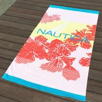Buy cheap Hula Flower Printed Beach Towels , Rose Red Color Bath Towel Sheets from wholesalers
