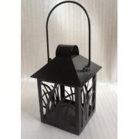 Buy cheap Small Black Lantern Decorative Candle Holders Garden Hanging Tealight Holder product