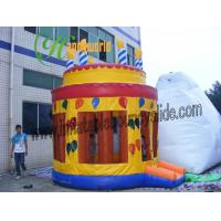 Buy cheap Colourful Happy Birthday Inflatable Bouncy Castle For Children Bounce Castle from wholesalers