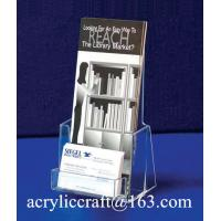 Buy cheap Customized Acrylic Brochure Holder / Brochure Racks from wholesalers