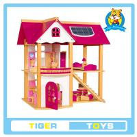 Buy cheap wooden toys,educational toys for kids- Wooden Doll house-play toy house from wholesalers