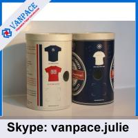 Buy cheap Paper tubes for clothes/ T-shirts/ OEM service/ white paperboard tubes from wholesalers