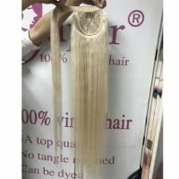 Buy cheap Vintage Wrap Around Ponytail Extension Human Hair Clip On Human Hair Pieces from wholesalers