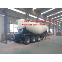 Buy cheap 3 Axle SINOTRUK Bulk Cement Tank Trailer Truck With 55-65CBM Weichai Engine And Bohai Air Compressor from wholesalers