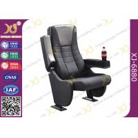Buy cheap Heavy Duty Steel Mechanism Movie Cinema Theater Chairs Top Grain Italian Leather Seat from wholesalers