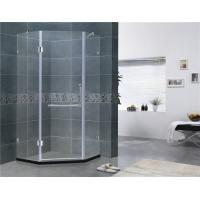 Buy cheap Simple Diamond Shape Frameless Hinged Shower Door Clear Glass For Home / Villa from wholesalers