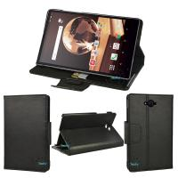 Buy cheap tablet leather case for Aquos Pad SH-05G 7 inch front stand case from wholesalers