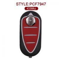 Buy cheap Alfa Romeo Folding Remote Key Fob 3 Button 433MHz PCF7947 147 156 166 GT from wholesalers