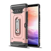 Buy cheap 2 in 1 mobile phone cover shell luxury for samsung note 8 case with metal kickstand holder from wholesalers