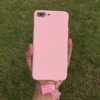 Buy cheap Hard PC Simple Solid Candy with Star Tassel Strap Color Cell Phone Case Cover For iPhone 7 6s Plus from wholesalers