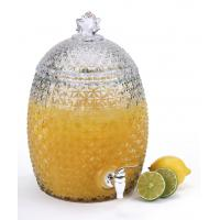 SGS / BV 7L Pineapple Glass Beverage Dispenser For Home Party eco-friendly
