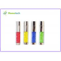 Buy cheap Imprinted Crystal 2 gb usb flash drive , custom printed Metal Usb Flash Memory product